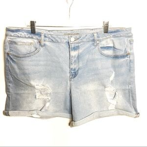Maurices Distressed Lightwash Shorts 18